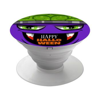 Halloween trick or treat Monster, Pop Socket Λευκό Βάση Στήριξης Κινητού στο Χέρι
