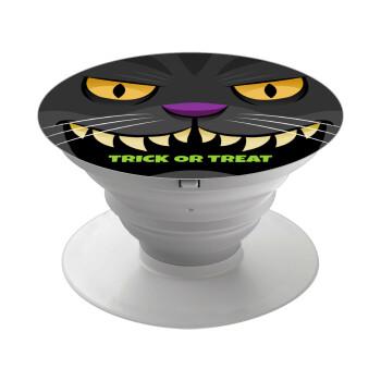 Halloween trick or treat Cat, Pop Socket Λευκό Βάση Στήριξης Κινητού στο Χέρι