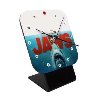 Shark jaws, Επιτραπέζιο ρολόι ξύλινο με δείκτες (10cm)