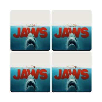 Shark jaws, ΣΕΤ 4 Σουβέρ ξύλινα τετράγωνα