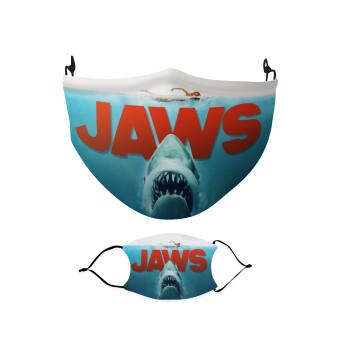 Shark jaws, Μάσκα υφασμάτινη Ενηλίκων πολλαπλών στρώσεων με υποδοχή φίλτρου