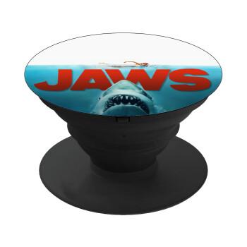 Shark jaws, Pop Socket Μαύρο Βάση Στήριξης Κινητού στο Χέρι