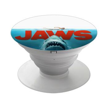 Shark jaws, Pop Socket Λευκό Βάση Στήριξης Κινητού στο Χέρι