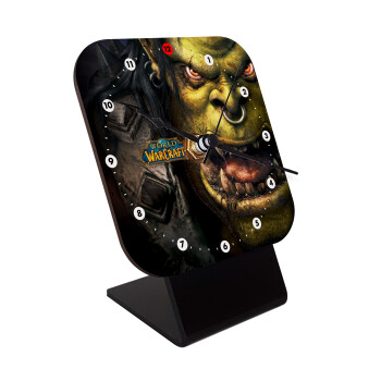 Worl of Warcraft, Επιτραπέζιο ρολόι ξύλινο με δείκτες (10cm)