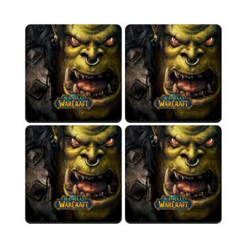 Worl of Warcraft, ΣΕΤ 4 Σουβέρ ξύλινα τετράγωνα