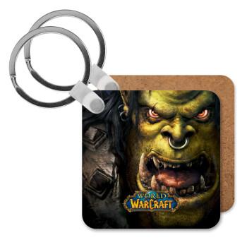 Worl of Warcraft, Μπρελόκ Ξύλινο τετράγωνο MDF 5cm (3mm πάχος)