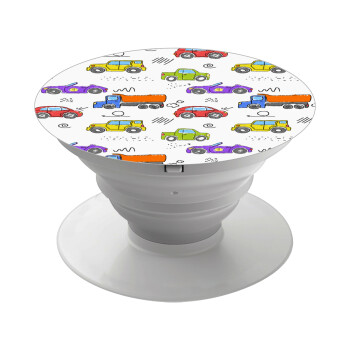 Αμαξάκια, Pop Socket Λευκό Βάση Στήριξης Κινητού στο Χέρι