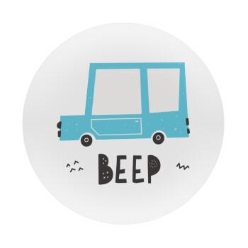 Car BEEP..., Mousepad Στρογγυλό 20cm