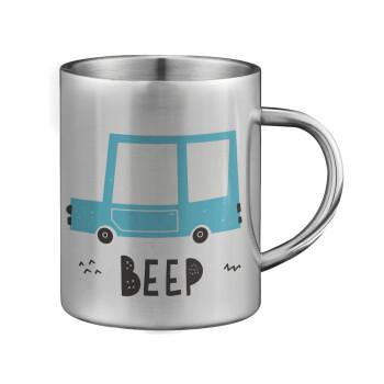 Car BEEP..., Κούπα ανοξείδωτη διπλού τοιχώματος μεγάλη 350ml
