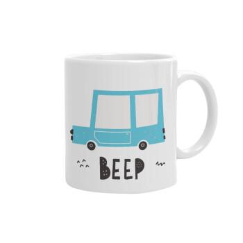 Car BEEP..., Κούπα, κεραμική, 330ml (1 τεμάχιο)