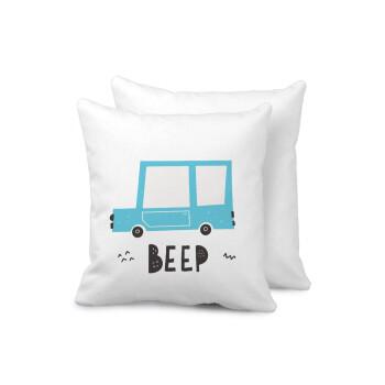Car BEEP..., Μαξιλάρι καναπέ 40x40cm περιέχεται το γέμισμα