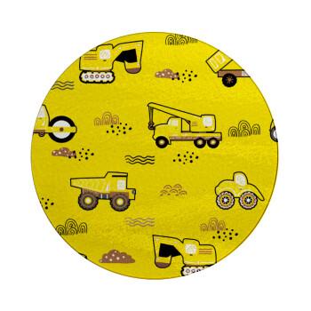 Αμαξάκια φορτωτές και μπουλντόζες, Επιφάνεια κοπής γυάλινη στρογγυλή (30cm)