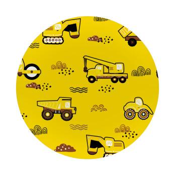 Αμαξάκια φορτωτές και μπουλντόζες, Mousepad Στρογγυλό 20cm