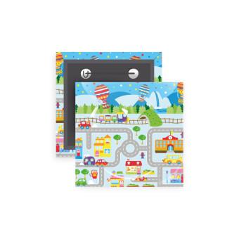 City road track maps, Κονκάρδα παραμάνα τετράγωνη 5x5cm