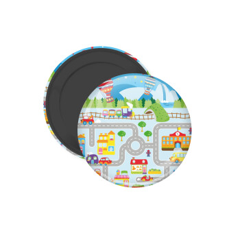 City road track maps, Μαγνητάκι ψυγείου στρογγυλό διάστασης 5cm