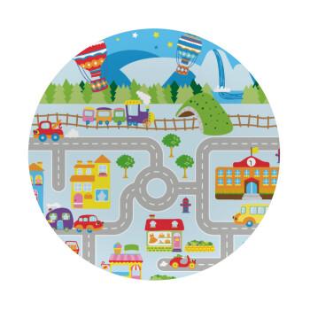 City road track maps, Mousepad Στρογγυλό 20cm