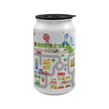 City road track maps, Κούπα ταξιδιού μεταλλική με καπάκι (tin-can) 500ml