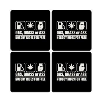 Gas, Grass or Ass, ΣΕΤ 4 Σουβέρ ξύλινα τετράγωνα