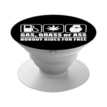 Gas, Grass or Ass, Pop Socket Λευκό Βάση Στήριξης Κινητού στο Χέρι