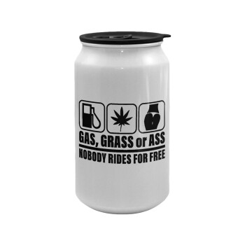Gas, Grass or Ass, Κούπα ταξιδιού μεταλλική με καπάκι (tin-can) 500ml