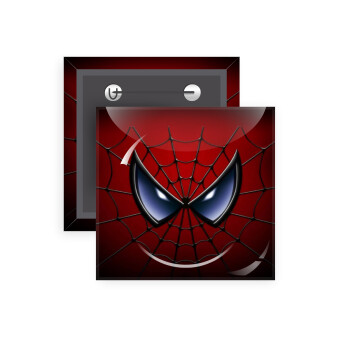 Spiderman mask, Κονκάρδα παραμάνα τετράγωνη 5x5cm