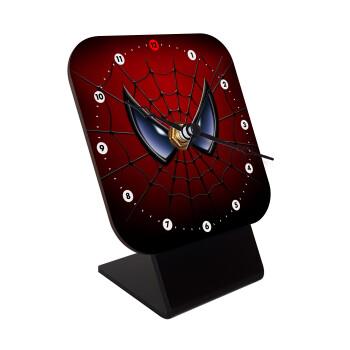 Spiderman mask, Επιτραπέζιο ρολόι ξύλινο με δείκτες (10cm)