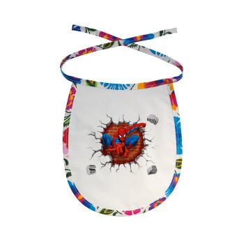 Spiderman wall, Σαλιάρα μωρού αλέκιαστη με κορδόνι Χρωματιστή
