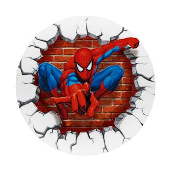 Spiderman wall, Mousepad Στρογγυλό 20cm
