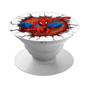 Spiderman wall, Pop Socket Λευκό Βάση Στήριξης Κινητού στο Χέρι