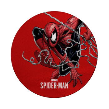 Spider-man, Επιφάνεια κοπής γυάλινη στρογγυλή (30cm)