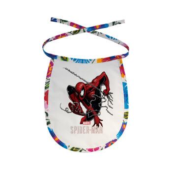 Spider-man, Σαλιάρα μωρού αλέκιαστη με κορδόνι Χρωματιστή