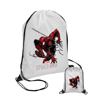 Spider-man, Τσάντα πουγκί με μαύρα κορδόνια 45χ35cm (1 τεμάχιο)