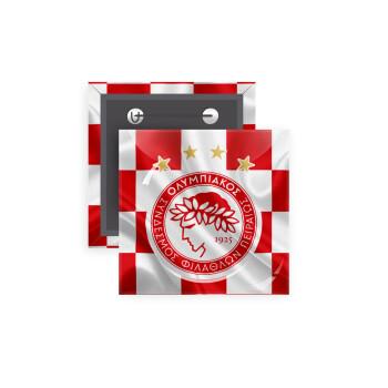 Olympiakos flag, Κονκάρδα παραμάνα τετράγωνη 5x5cm