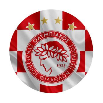 Olympiakos flag, Mousepad Στρογγυλό 20cm