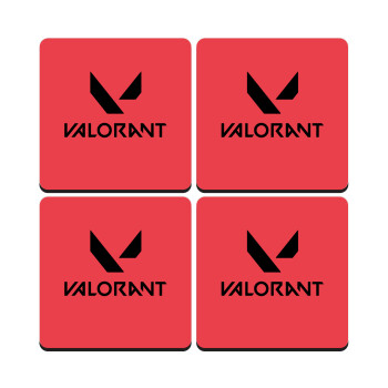 Valorant, ΣΕΤ 4 Σουβέρ ξύλινα τετράγωνα