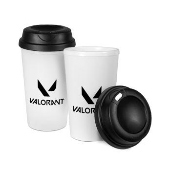 Valorant, Κούπα ταξιδιού πλαστικό (BPA-FREE) με καπάκι βιδωτό, διπλού τοιχώματος (θερμό) 330ml (1 τεμάχιο)