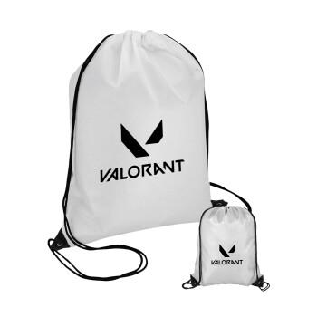 Valorant, Τσάντα πουγκί με μαύρα κορδόνια 45χ35cm (1 τεμάχιο)