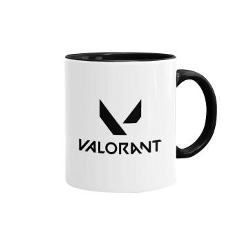 Valorant, Κούπα χρωματιστή μαύρη, κεραμική, 330ml