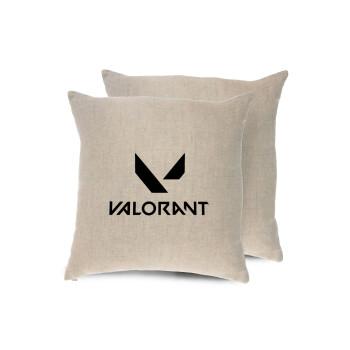 Valorant, Μαξιλάρι καναπέ ΛΙΝΟ 40x40cm περιέχεται το γέμισμα