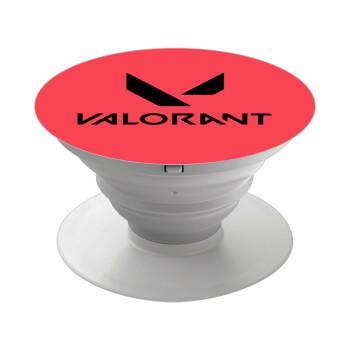 Valorant, Pop Socket Λευκό Βάση Στήριξης Κινητού στο Χέρι