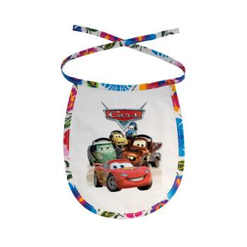 Αυτοκίνητα, Σαλιάρα μωρού αλέκιαστη με κορδόνι Χρωματιστή