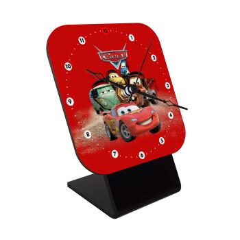 Αυτοκίνητα, Επιτραπέζιο ρολόι ξύλινο με δείκτες (10cm)