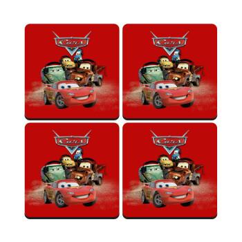 Αυτοκίνητα, ΣΕΤ 4 Σουβέρ ξύλινα τετράγωνα