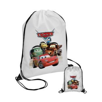 Αυτοκίνητα, Τσάντα πουγκί με μαύρα κορδόνια 45χ35cm (1 τεμάχιο)