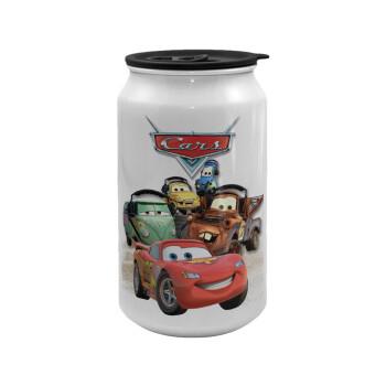 Αυτοκίνητα, Κούπα ταξιδιού μεταλλική με καπάκι (tin-can) 500ml