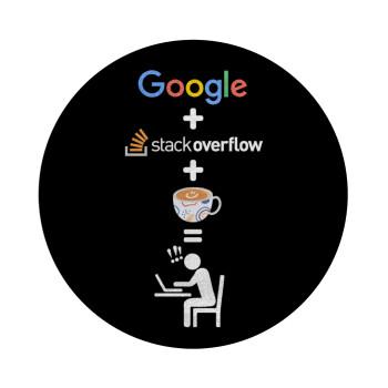 Google + Stack overflow + Coffee, Επιφάνεια κοπής γυάλινη στρογγυλή (30cm)