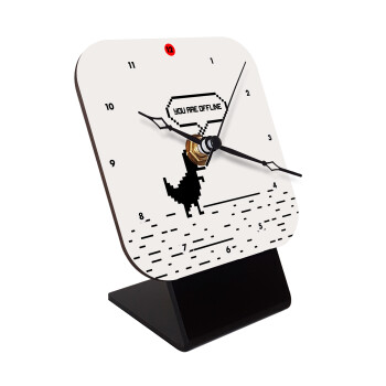 You are offline dinosaur, Επιτραπέζιο ρολόι ξύλινο με δείκτες (10cm)