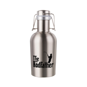 The rodfather, Μεταλλικό παγούρι Inox (Stainless steel) με καπάκι ασφαλείας 1L