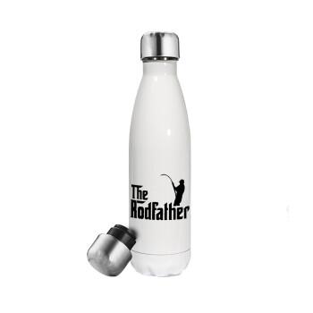 The rodfather, Μεταλλικό παγούρι θερμός Λευκό (Stainless steel), διπλού τοιχώματος, 500ml