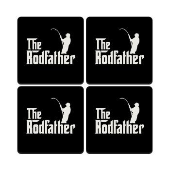 The rodfather, ΣΕΤ 4 Σουβέρ ξύλινα τετράγωνα
